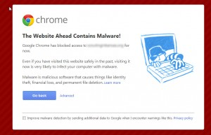 The Website Ahead Contains Malware! Google Chrome has blocked access